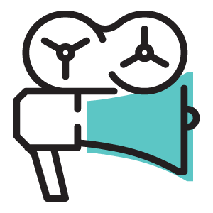 Flypress drone photo and video services icon